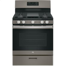 33 Inch Slate Side by Side Kitchen Package GAS Range. (This is a Stock Photo, actual unit (s) appearance may contain cosmetic blemishes. Please call store if you would like actual pictures). REBATE NOT VALID with this item.