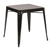 Paterson Metal Table In Black Finish