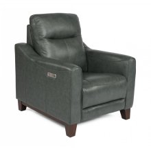 Forte Leather Power Recliner with Power Headrest