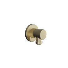 Modern Round Wall Outlet - Brushed Brass