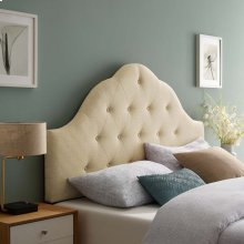Sovereign King Upholstered Fabric Headboard in Beige