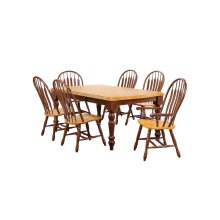 DLU-SLT4272-4130A-NLO7PC  7 Piece Extendable Dining Set with Four Side Chairs and Two Arm Chairs