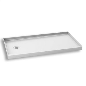 "Rectangular acrylic shower base 60"" x 32"" - Left drain Product Image"