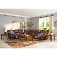 Power Lay Flat Reclining Console Loveseat, Extended Ottoman