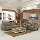 Empress Sofa and Armchairs Set of 3 in Oatmeal Product Image