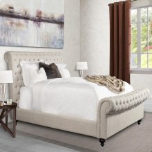 Jackie Crepe Upholstered Bed Collection