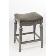 Vetrina Backless Counter Stool, Gray
