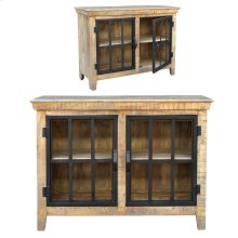 Bengal Manor Mango Wood and Metal 2 Door Cabinet