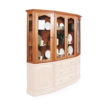 """Classic Canted Hutch Top, 63 1/2"""", Antique Glass"""