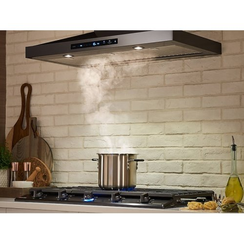 "36"" Chef Collection Wall Mount Hood in Matte Black Stainless Steel"