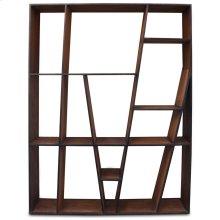 BURTON BOOKCASE  Reclaimed Walnut Finish on Mango Wood with Iron Frame