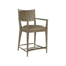 Grigio Milo Leather Counter Stool