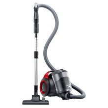 VC-F700G Motion Sync Bagless Canister Vacuum with Built-In Accessories (Vitality Red)