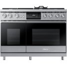 "48"" Pro Dual-Fuel Steam Range, Silver Stainless Steel, Liquid Propane/High Altitude Product Image"