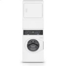 White Stacked Washer Dryer (Gas) Product Image