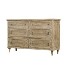 6 Drawer Dresser-sandstone Finish