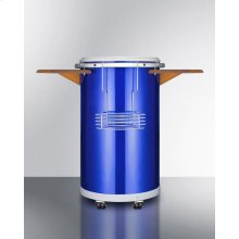 "Round Beverage Refrigerator With ""blue"" Ice Bank for 8 Hours of Electricity-free Cooling"