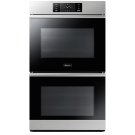 """30"""" Steam-Assisted Double Wall Oven, Silver Stainless Steel Product Image"""