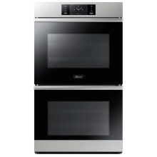 """30"""" Steam-Assisted Double Wall Oven, Silver Stainless Steel"""