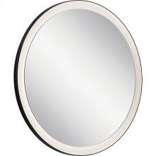 Ryame Round Lighted Mirror Black