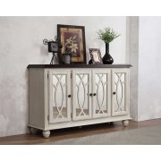 New Orleans Solid Top Server(4 Mirrored Doors) Product Image