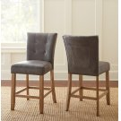 """Debby Counter Chair - Grey 19""""x25""""x40"""" [1/2"""" Memory Foam] Product Image"""