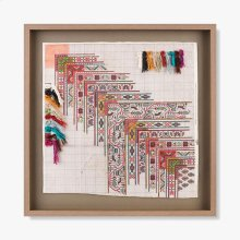 0300980042 Vintage Rug Map Wall Art