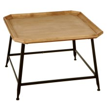 Gallery Top Coffee Table with Black Base