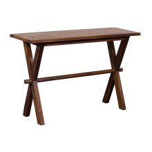 X-Table Console Table - Chestnut, 6255
