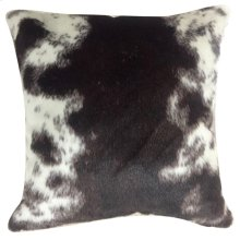 MAY HIDE PILLOW  Faux Hair on Hide- Brown  Poly Fill
