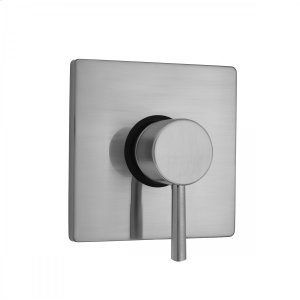 Antique Brass - Square Plate With Round Contempo Lever Trim For Pressure Balance Valve (J-PBV) Product Image
