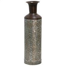 Galvanized  6in Dia. X 24in Ht. Metal Vase
