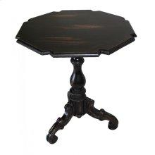 Black Carved End Table