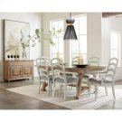 Madison - Upholstered Ladderback Side Chair - Rustic White Finish Product Image