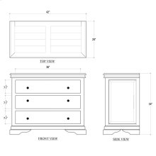 Homestead 3 Drawer Chest
