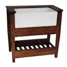 Display Stand for FS30 Farmer Sink - Darkwood Product Image