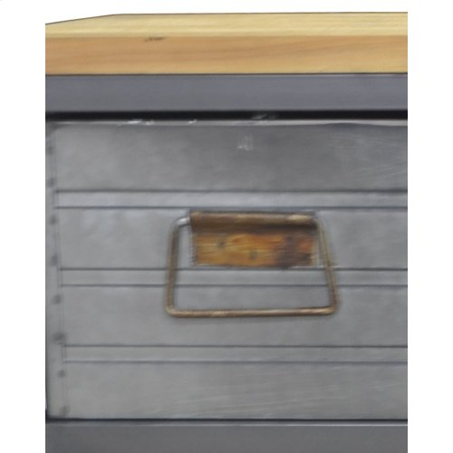 Emerald Home Ac410-09 Grant Accent Cabinet, Aged Metal