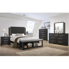 1042 Burbank Valspar Queen Bed with Dresser and Mirror