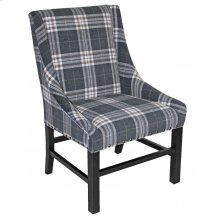 IC340 Charcoal Check Chair