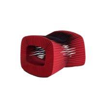 Seat Belt Ottoman, Red