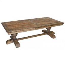 Reclaimed Elm Pedestal Coffee Table