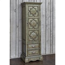 Medallion Single Door Cabinet - Ant Blue