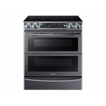 5.8 cu. ft. Slide-In Electric Range with Flex Duo & Dual Door in Black Stainless Steel