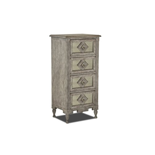 WP-5010-360  4 Drawer Accent Chest  Antique Mirrored Lingerie Dresser