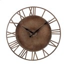 METAL ROMAN NUMERAL OUTDOOR WALL CLOCK. Product Image