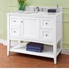 "Shaker Americana 42"" Open Shelf Vanity - Polar White Product Image"
