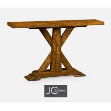 Country Walnut Rectangular Console