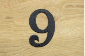 "9 Black 6"" Mailbox House Number 450150 Product Image"