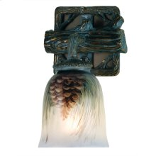 """6"""" Wide Pinecone Hand Painted Wall Sconce"""