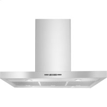 """36"""" Euro-Style Low Profile Island-Mount Canopy Hood, Euro-Style Stainless Handle"""